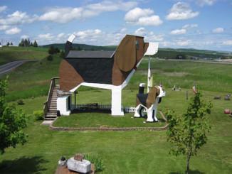 Netradiční bígl hotel - Foto:  Dog Bark Park Inn