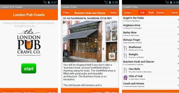 Londýn - aplikace London Pub Crawl