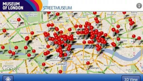 Londýn - Aplikace Museum of London Streetmuseum