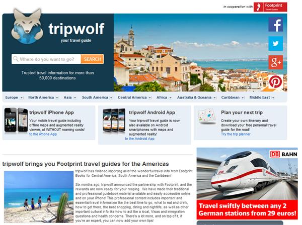 TripWolf - cestovatelské informace