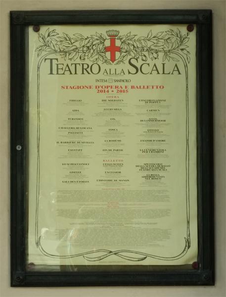 Program v La Scala