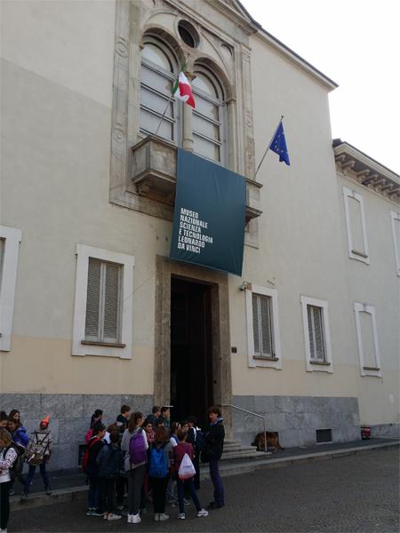 Vstup do muzea Leonarda da Vinci