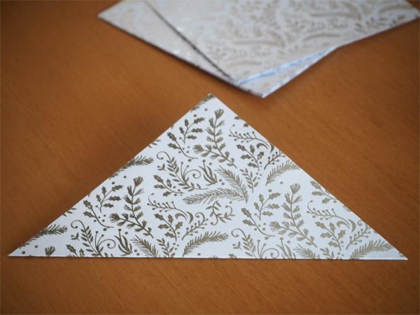 Výroba origami - krok 1