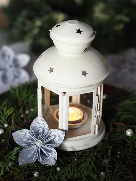 Vánoční lucerna s origami