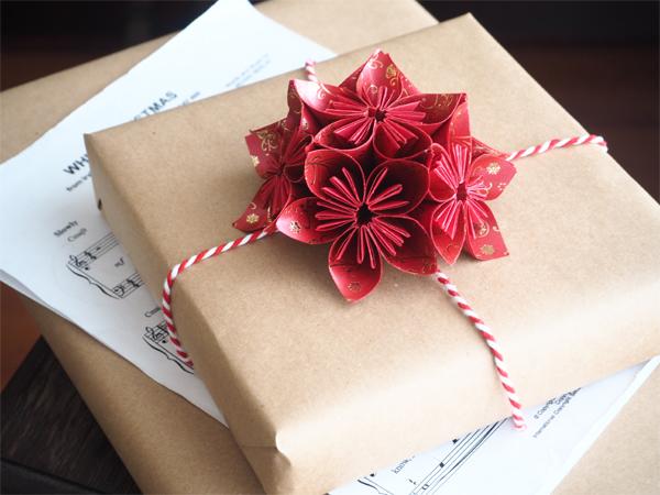 Vánoční origami