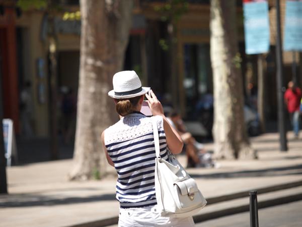 Turistka v akci