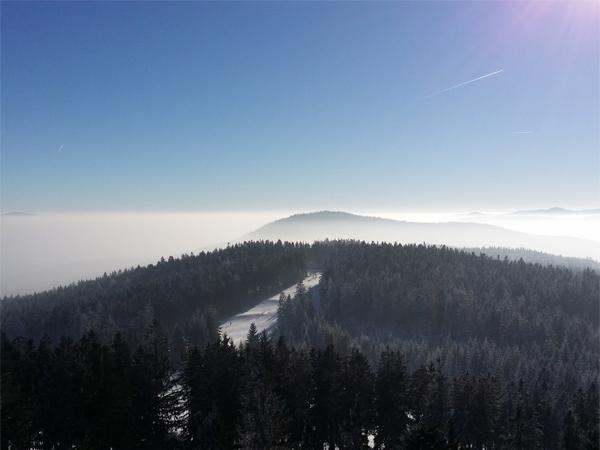 Výhled na vrcholky