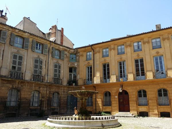 Historické centrum v Aix en Provence