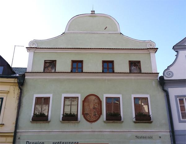 Historický dům v Českém Krumlově