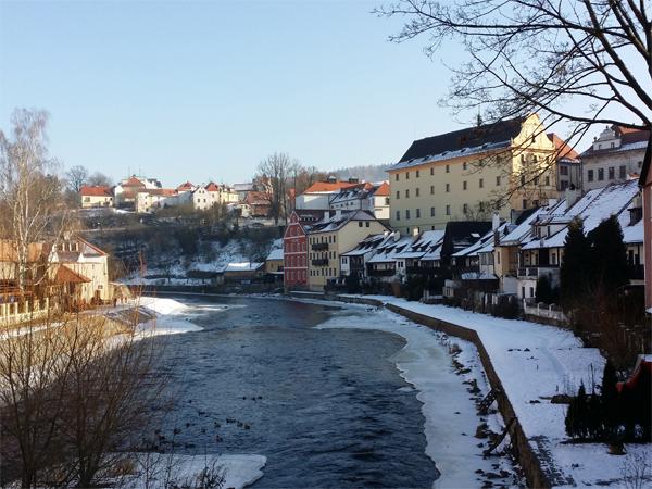 Výhled na řeku Český Krumlov