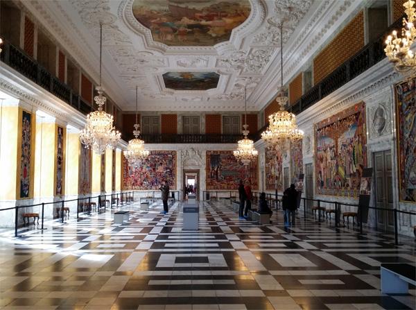 Královský sál na zámku Christiansborg