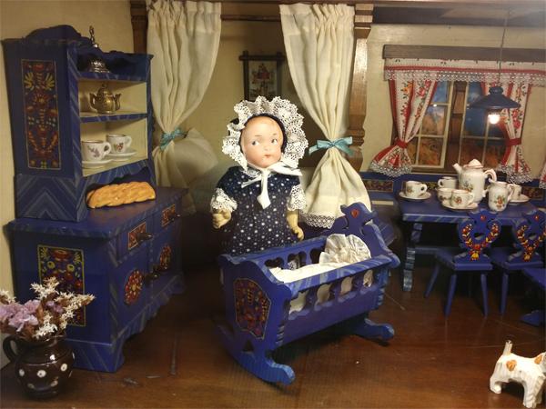 Pokojíček v Muzeu hraček na zámku v Benátkách