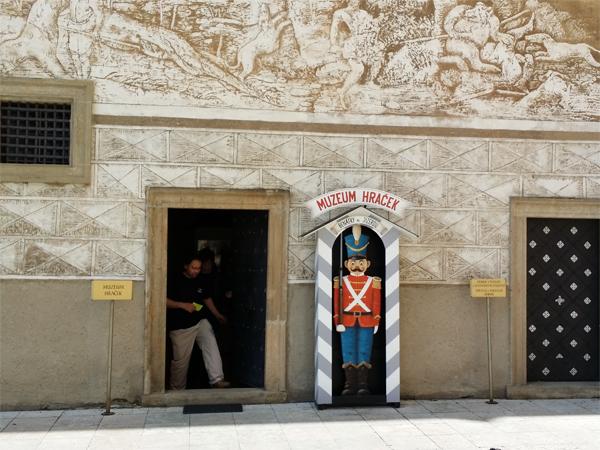 Vstup do druhé expozice Muzea hraček v Benátkách